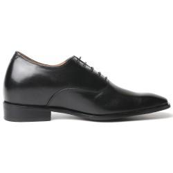 Herren Schwarze Business Schuhe die größer machen Dionigi +7 cm