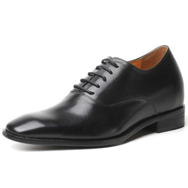 Herren Schwarze Business Schuhe die größer machen