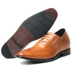 Braune elegante Schuhe Herren die größer machen Virgilio +7