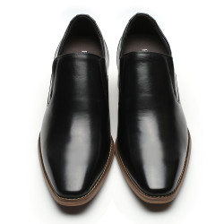 Slip-On Schuhe die größer machen schwarz Oliviero +7cm